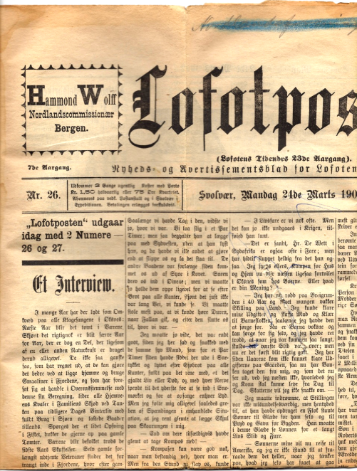 Lofotposten 1902: