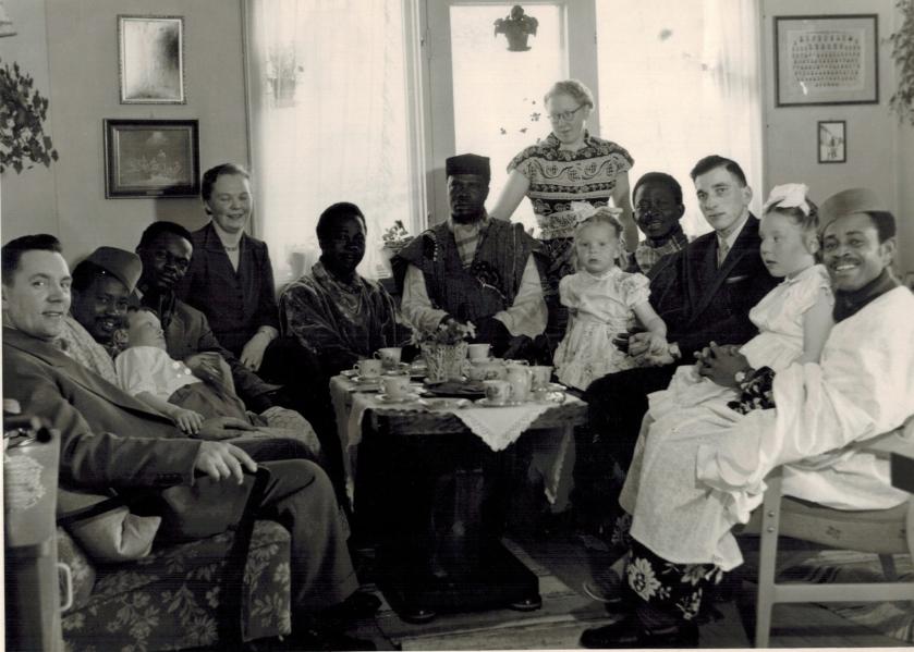 Randi Rønning Balsviks beretning om et kaffebesøk fra Nigeria i Vardø, 1956.