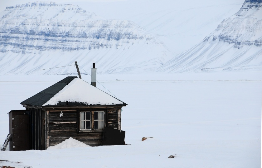 Denne hytta i Bjonahamna var hovedstasjon for Ivan Hochlin. Foto: Anastasia Gorter