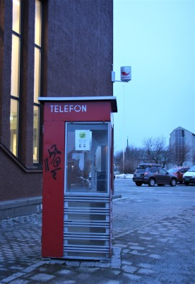 Tidligere telefonkiosk i Bodø. Foto: Ann Kristin Klausen